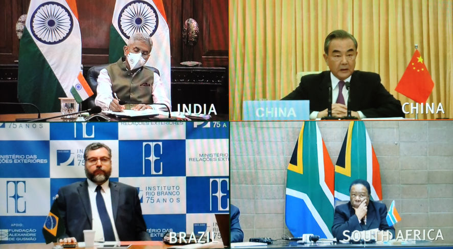 О внеочередном совещании глав внешнеполитических ведомств государств БРИКС в формате видеоконференции